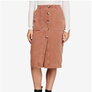 Free People Buttom-Up Skirt